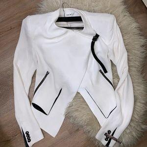 NWT Helmut Lang Radar Asymmetric Wrap Jacket White